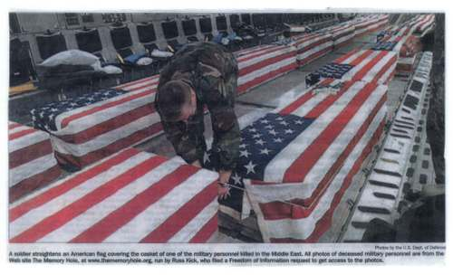 10. Flag Draped Coffins...